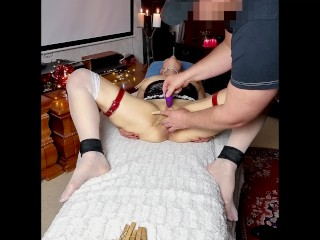 Homemade sadism & masochism with clothes pinches, singletail, fake penis and stimulator, red-hot numerous climax contractions