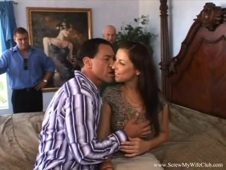 Fine hooters Housewife pounded