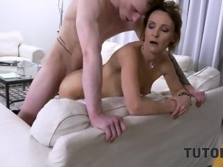 'TUTOR4K. Skimpy man comes back debt by allowing fellow to tear up his mom'