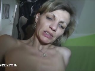 Super-naughty mature fuckslut with puny bosoms gets her bum boned