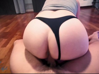 Sucky-sucky in Yoga Pants and jizm in my fleshy poon - 4K - inexperienced My Blue Apple