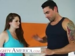 """""""Naughty America - individual Trainer gives Allison Moore a splooge crammed workout"""""""