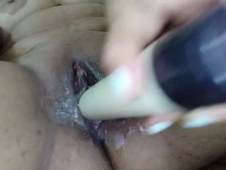 Real Hijab Muslim Arab mommy huge fake penis Wet poon onanism To splattering climax On web cam