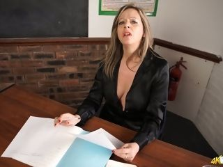 Brit instructor Lou Pierce flashes off her infatuating innate jugs
