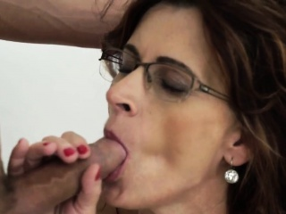 Spex grandmother jizz strewn