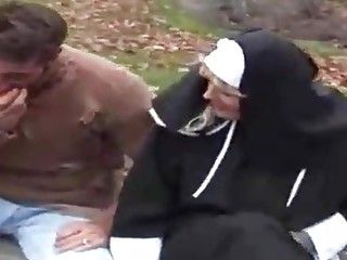 Dutch nun is frequently providing fellatios to homeless fellows and even railing their rock rock-hard rock-hard-ons