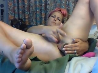 Whorish Sukie Rae gets superb delectation from a glass fuck stick