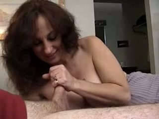 Sandy-haired mature dame with hefty mammories masturbates off and bj's meatpipe