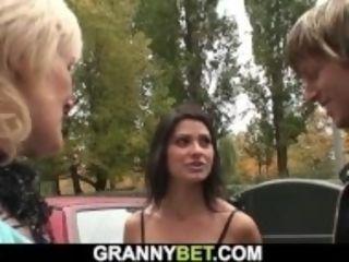 """80 years aged towheaded call girl rails his nasty cock"""