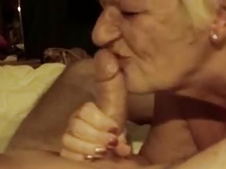 Grandma deepthroating manstick 1
