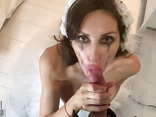 Bride hotwife before the wedding