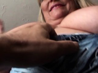 Meaty brit grandmother jerking and demonstrating off abilities