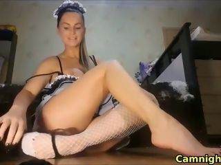 Sultry Housewife acquiring bald agree to first of all webcam