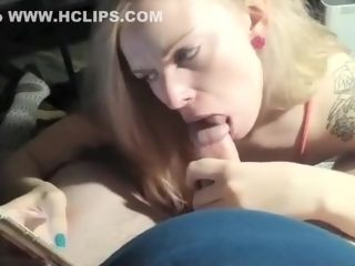 Finest special blowage, towheaded, ample titties pornography video