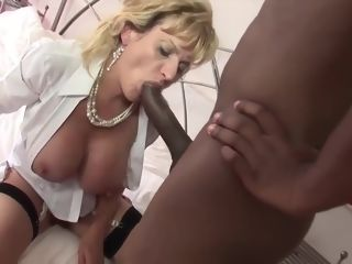 Epic gal Sonia is providing a sensuous bj to a ebony stud she has just faced