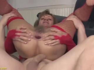 'ugly grannie deep bum fucked'